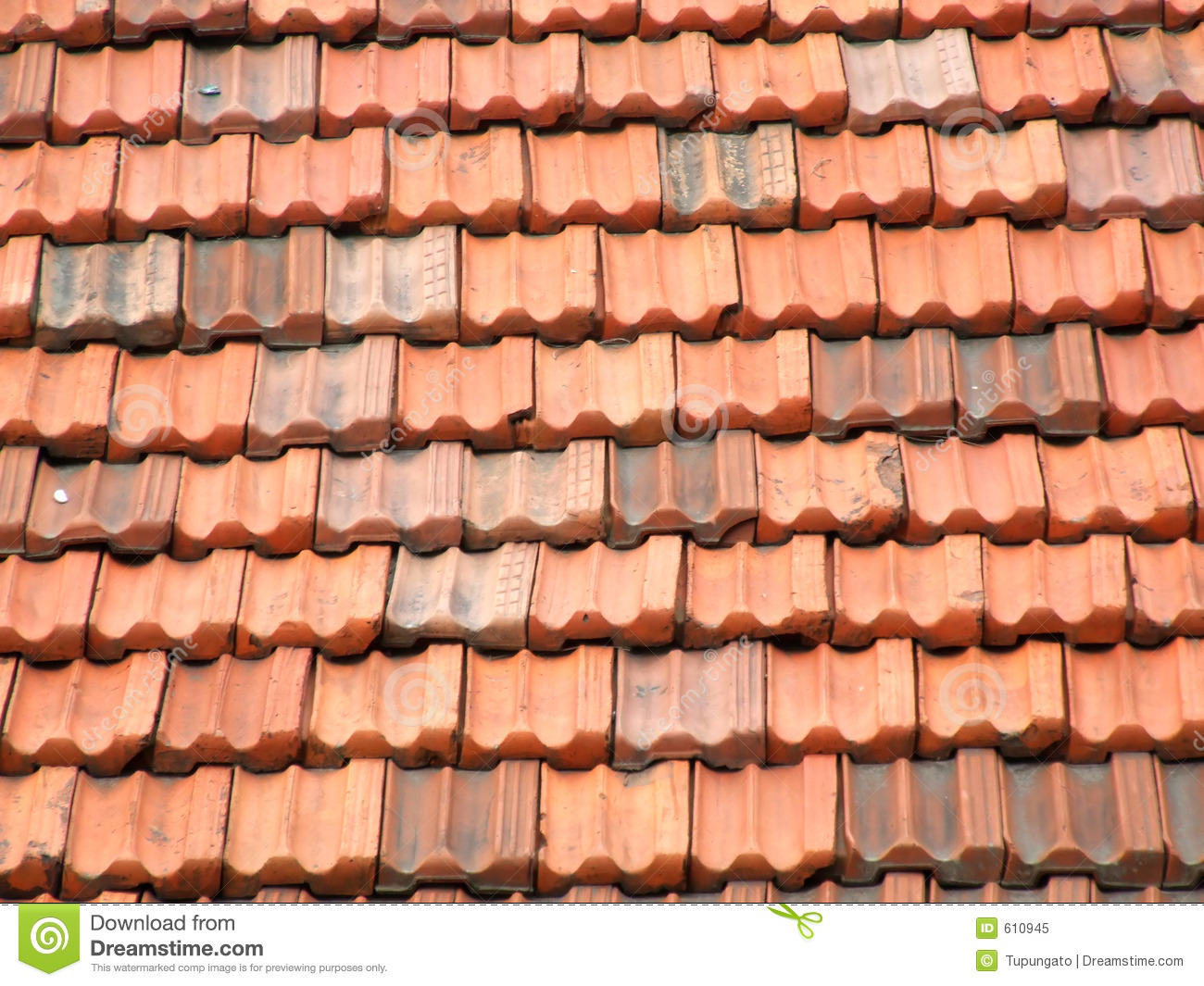 Relatively Red and orange roof tiles stock image. Image of abstract - 610945 BR12