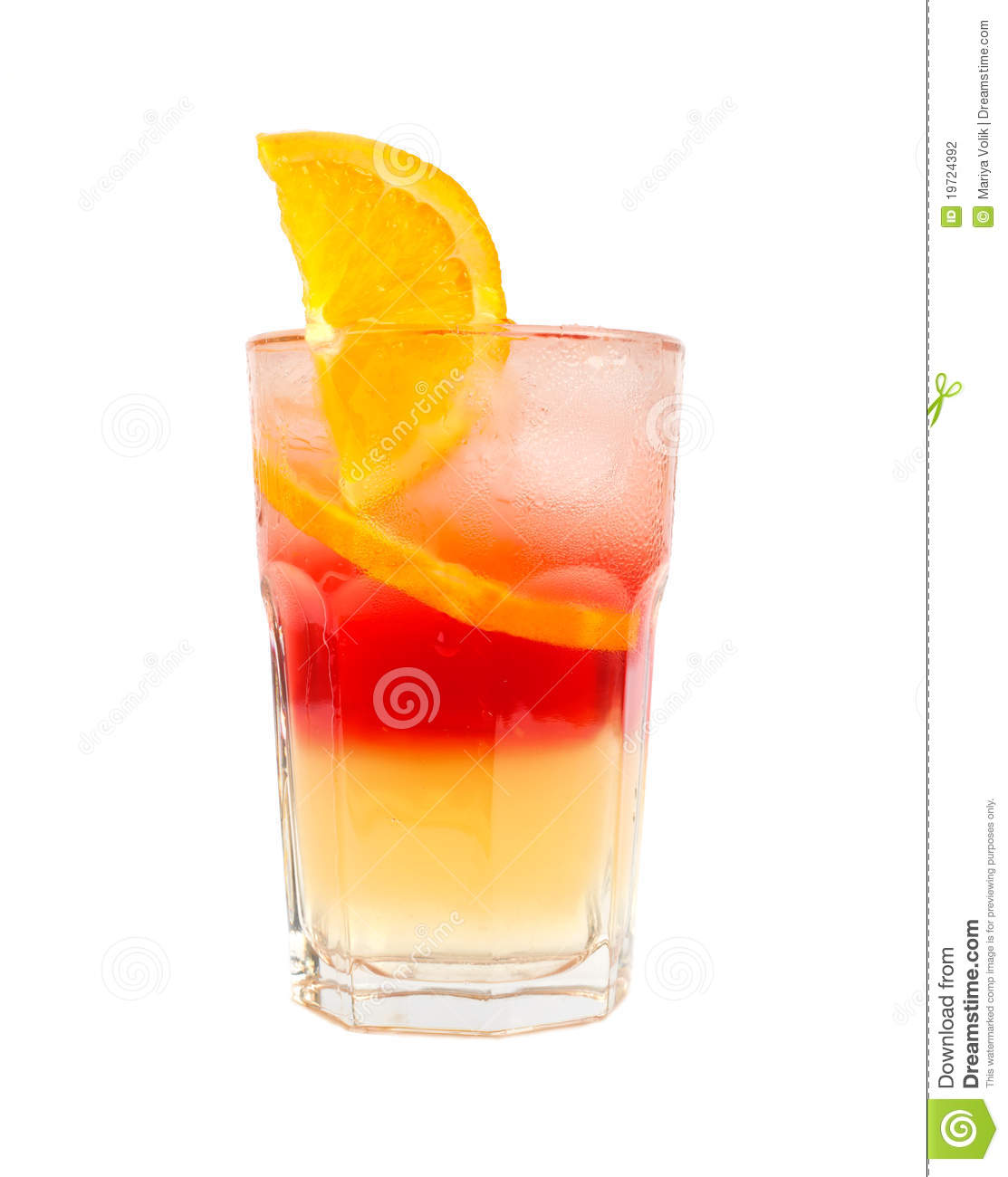 Red with orange two layers cocktail stock photo image for Cocktail orange