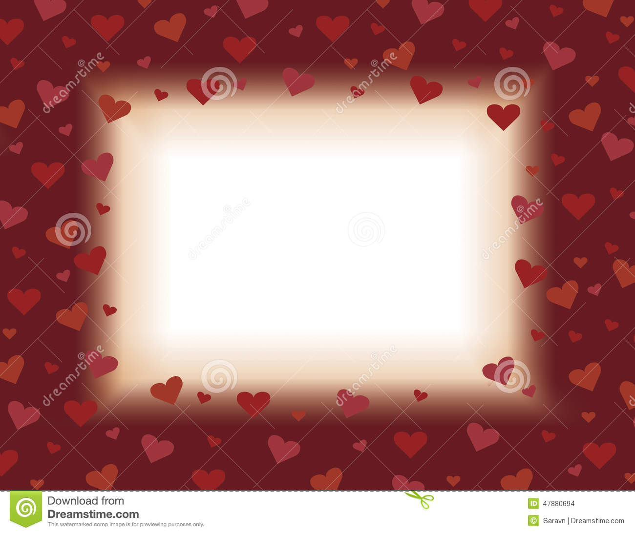 red and orange valentines day card background illustration