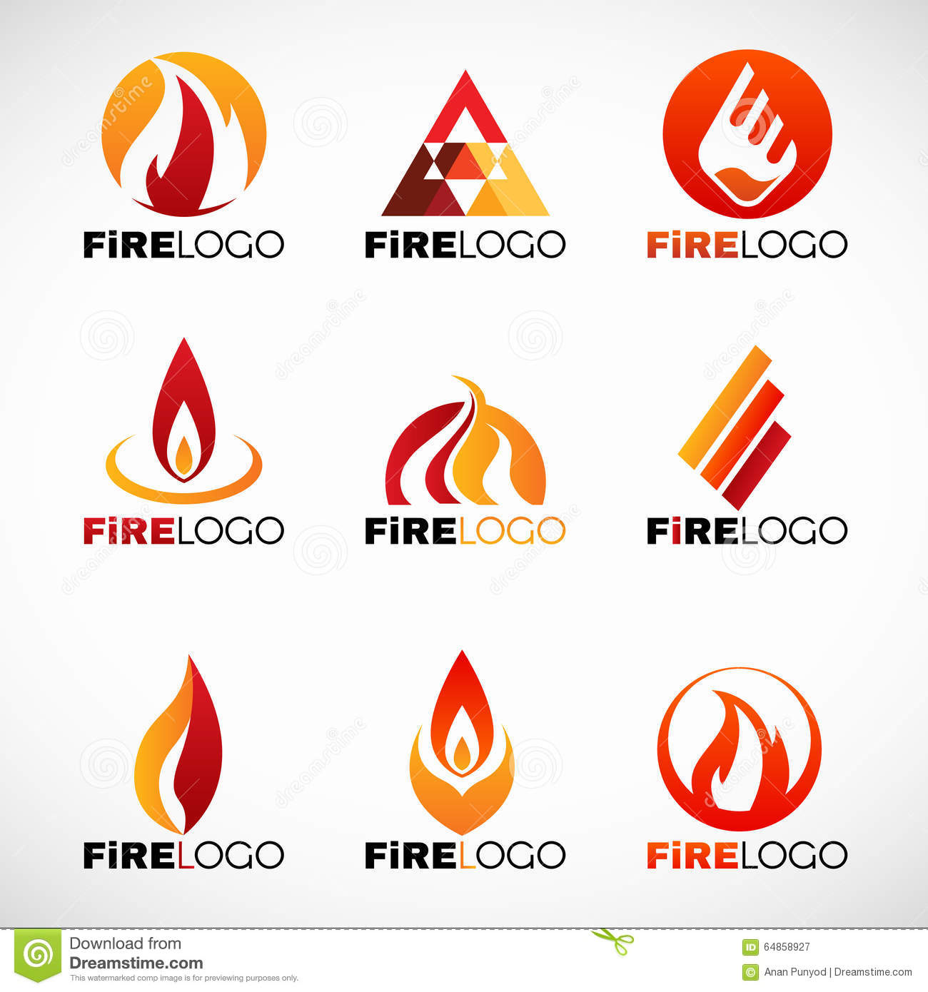 red orange and yellow fire logo vector set design stock vector illustration of sign light. Black Bedroom Furniture Sets. Home Design Ideas