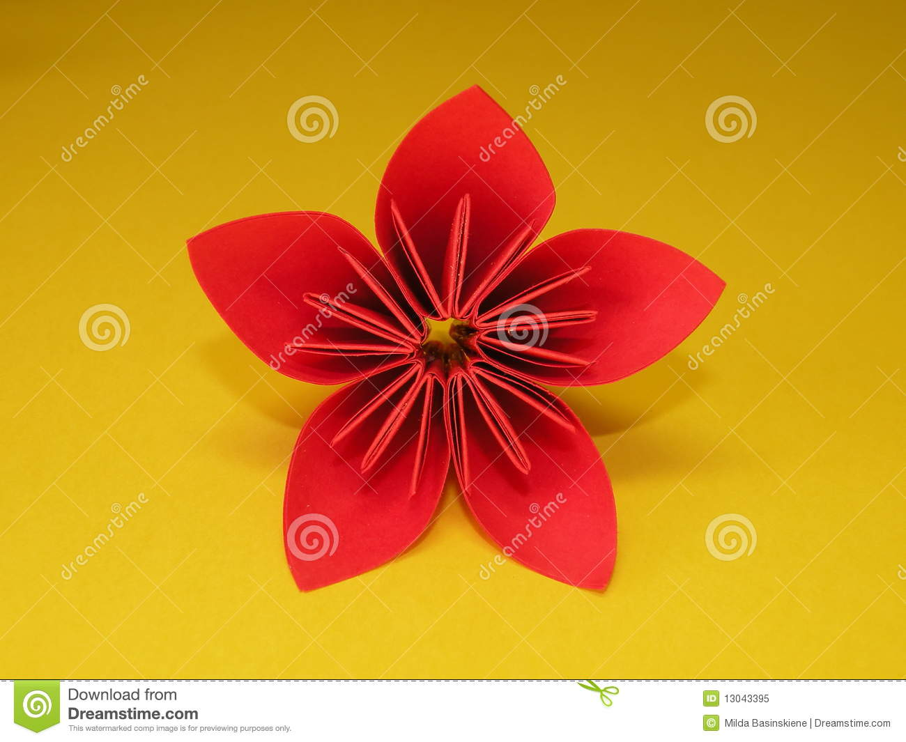 Download Red Origami Flower Stock Image Of Pattern Japan