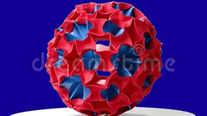 Red Origami Magic Ball Stock Footage Image Of Assembled 123022648