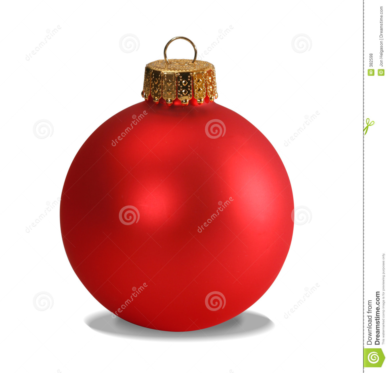 Red ornament with clipping path
