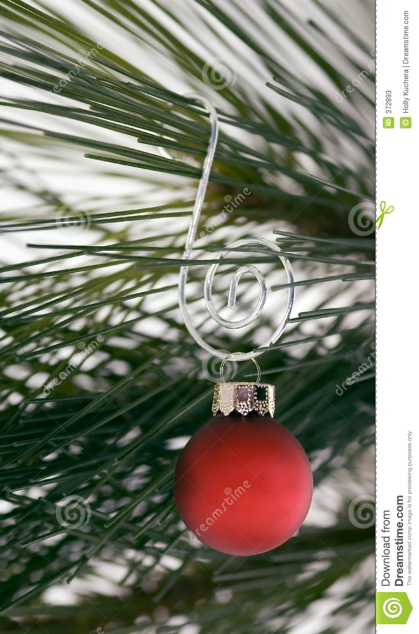 Red Ornament on Curly Hanger