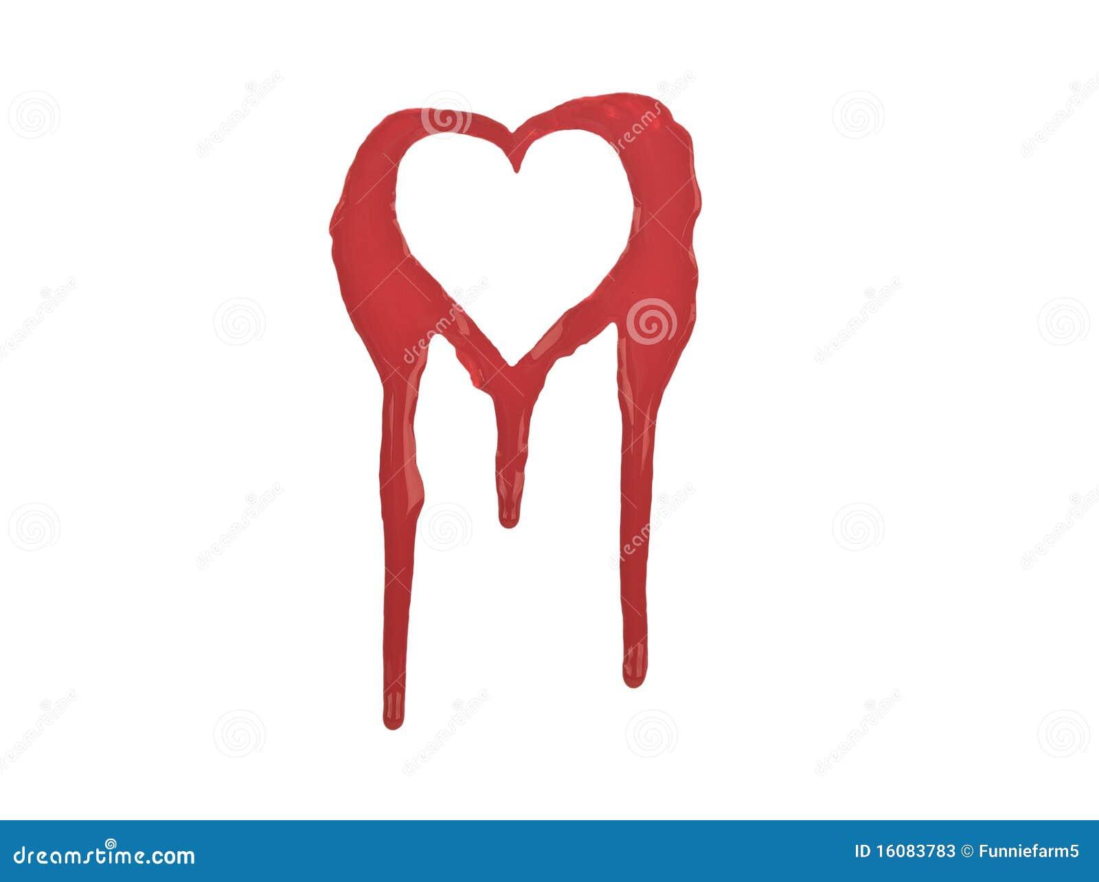 Red outline of bleeding heart isolated on white stock image royalty free stock photo buycottarizona