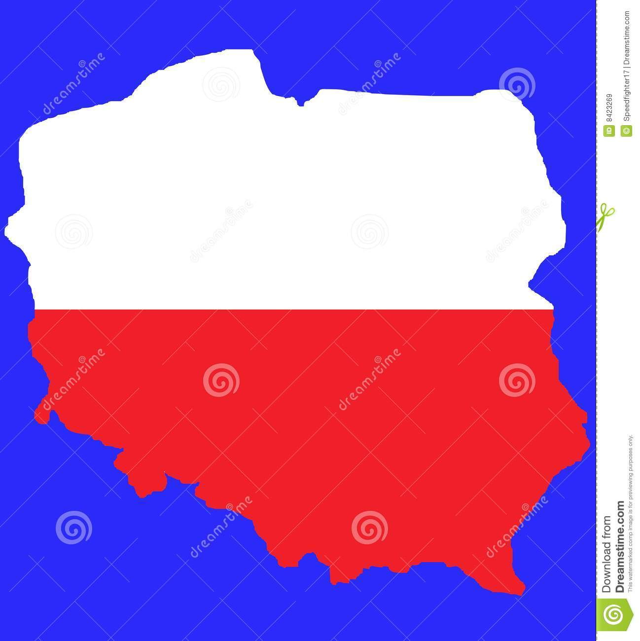 red outline map of poland flag royalty free stock images image