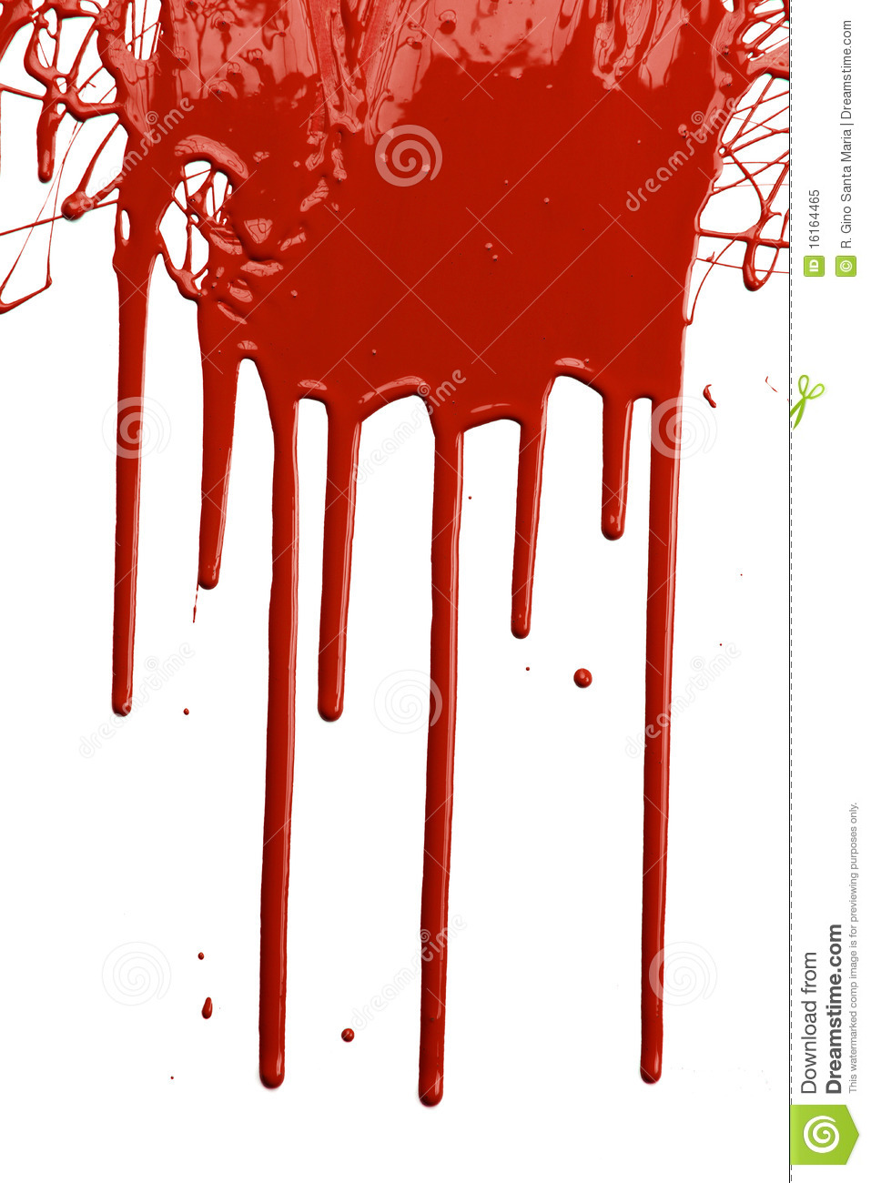Red Paint Dripping Royalty Free Stock Photo - Image: 16164465
