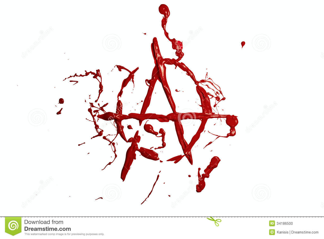 Red paint painted anarchy sign stock illustration illustration red paint painted anarchy sign buycottarizona