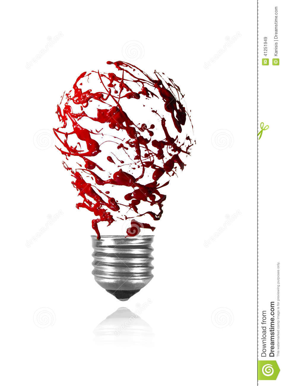 red paint splah made light bulb stock illustration image 41251949. Black Bedroom Furniture Sets. Home Design Ideas