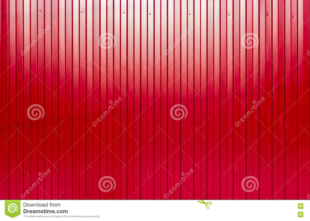 Paint Sheet Metal : Red painted corrugated sheet metal texture stock photo