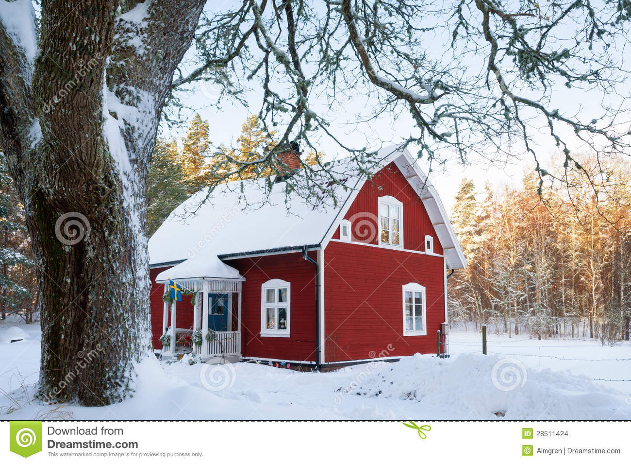 Awesome House Landscape Red ...