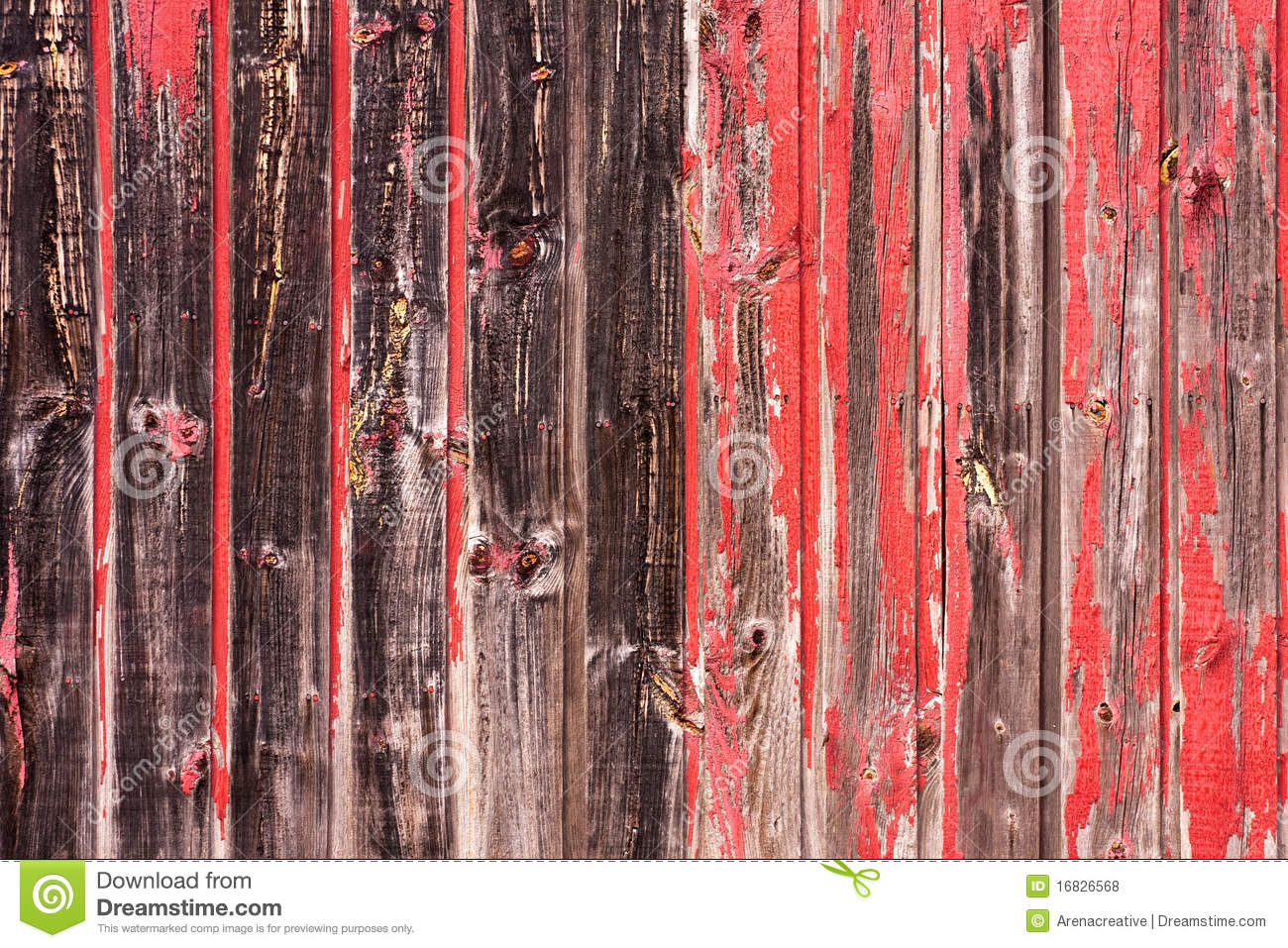 Red Painted Wood Paneling Stock Illustration Image Of