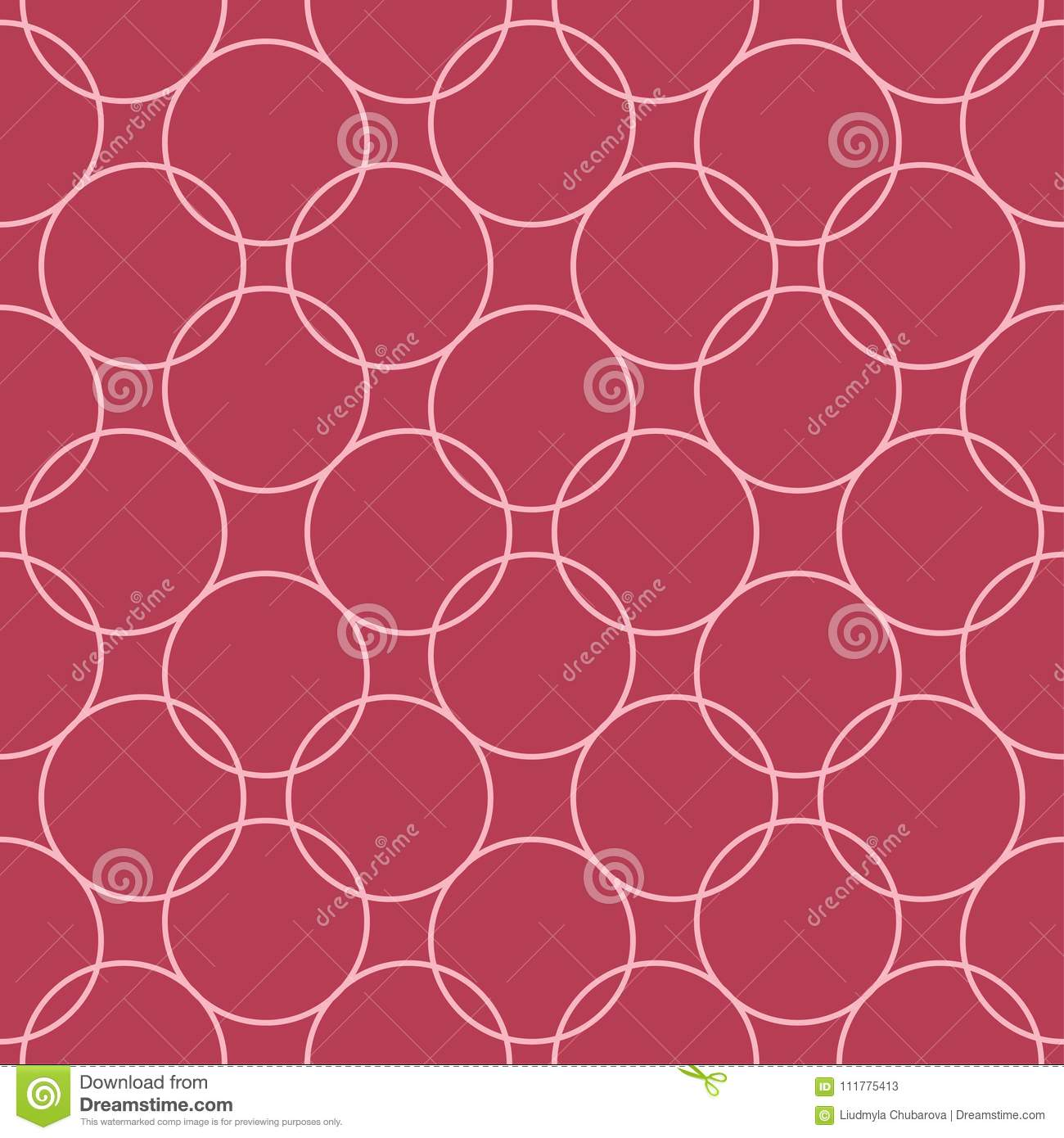 Red and pale pink geometric seamless pattern
