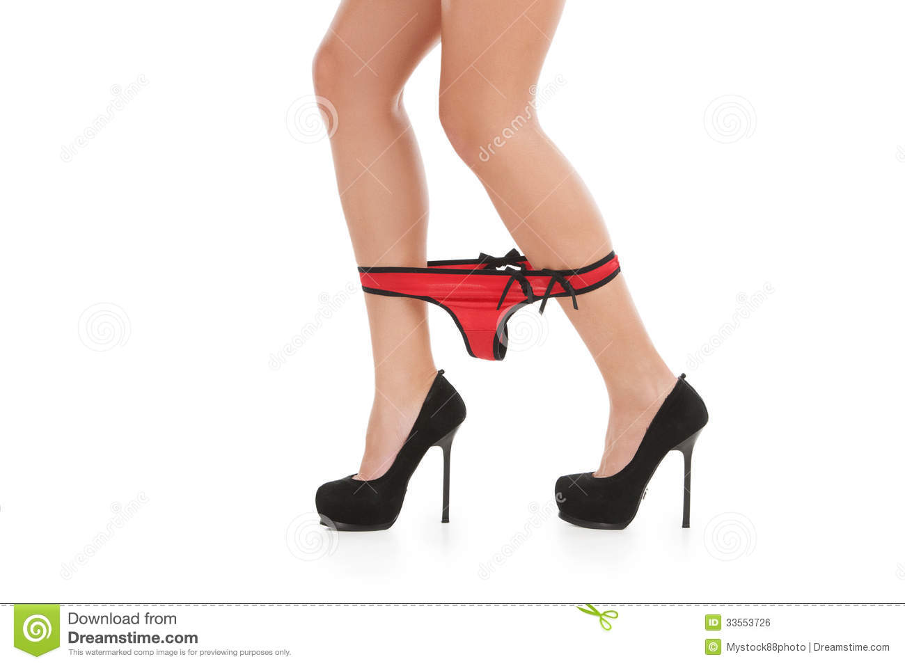 Red Panties. Royalty Free Stock Image