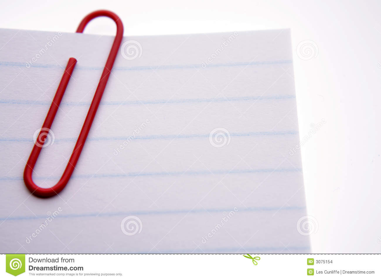 red paper clip on papers stock images