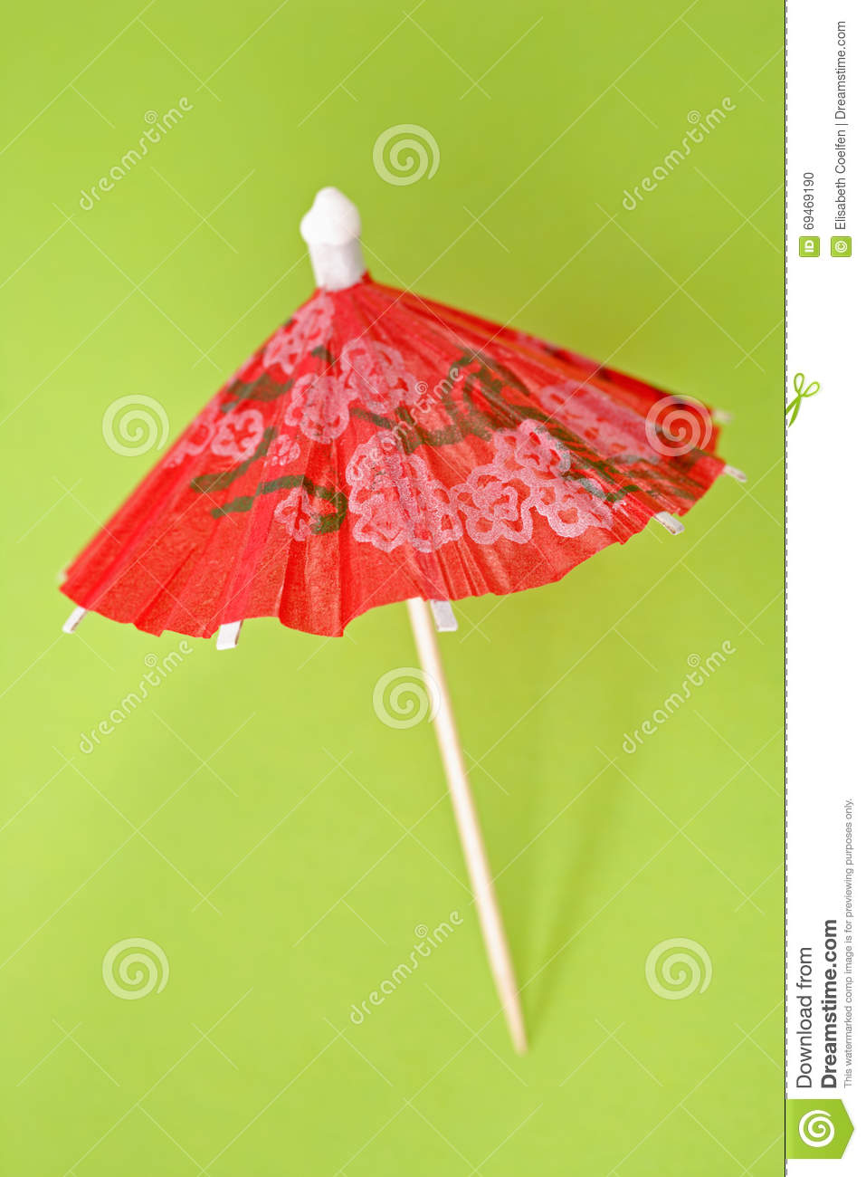 Red Paper Drink Umbrella