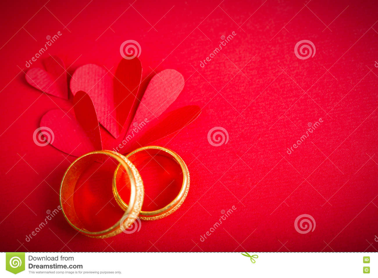 Red Paper Heart And Engagement Ring Stock Image Image 65657313