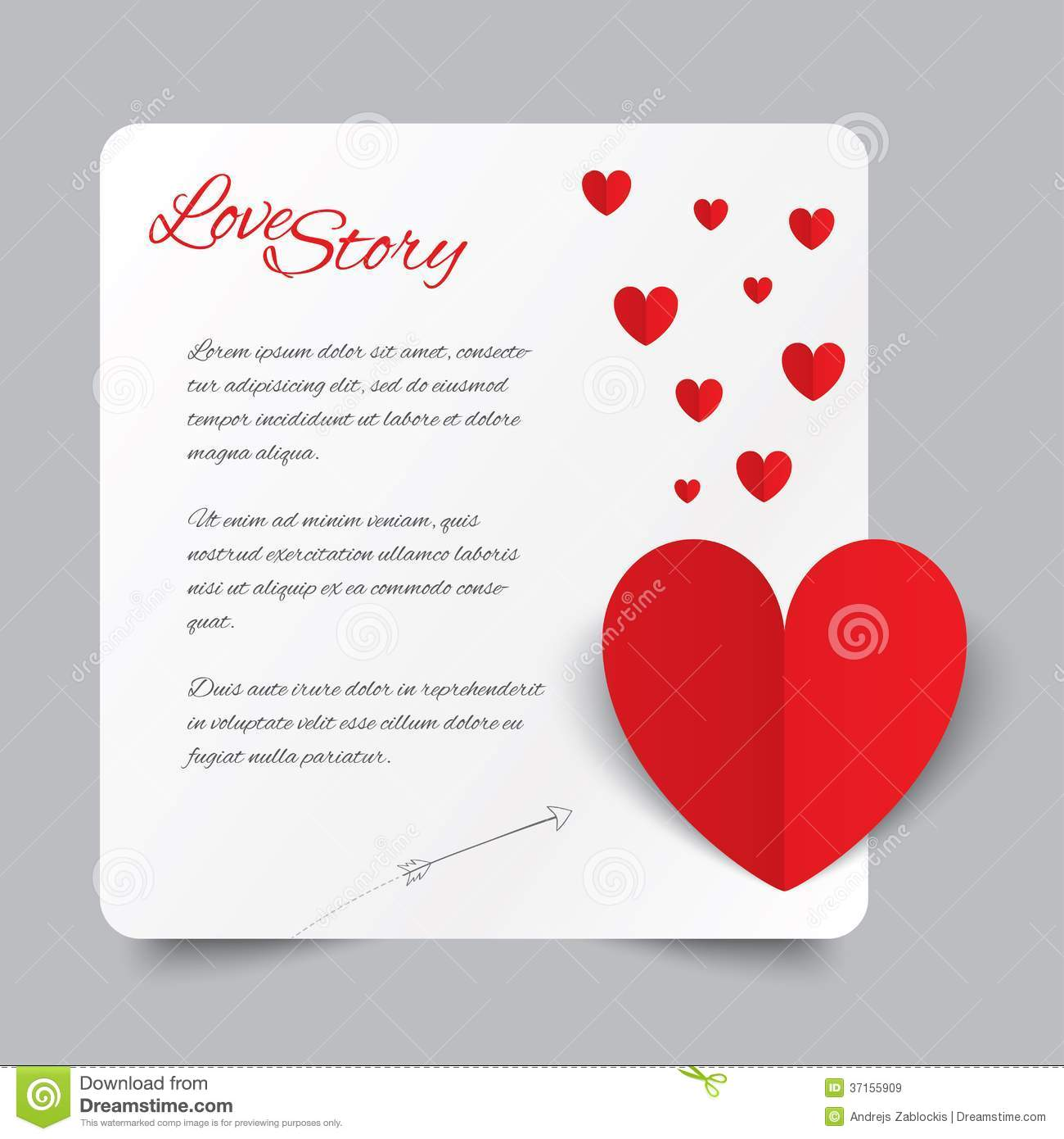 red paper heart valentines day card love story royalty free