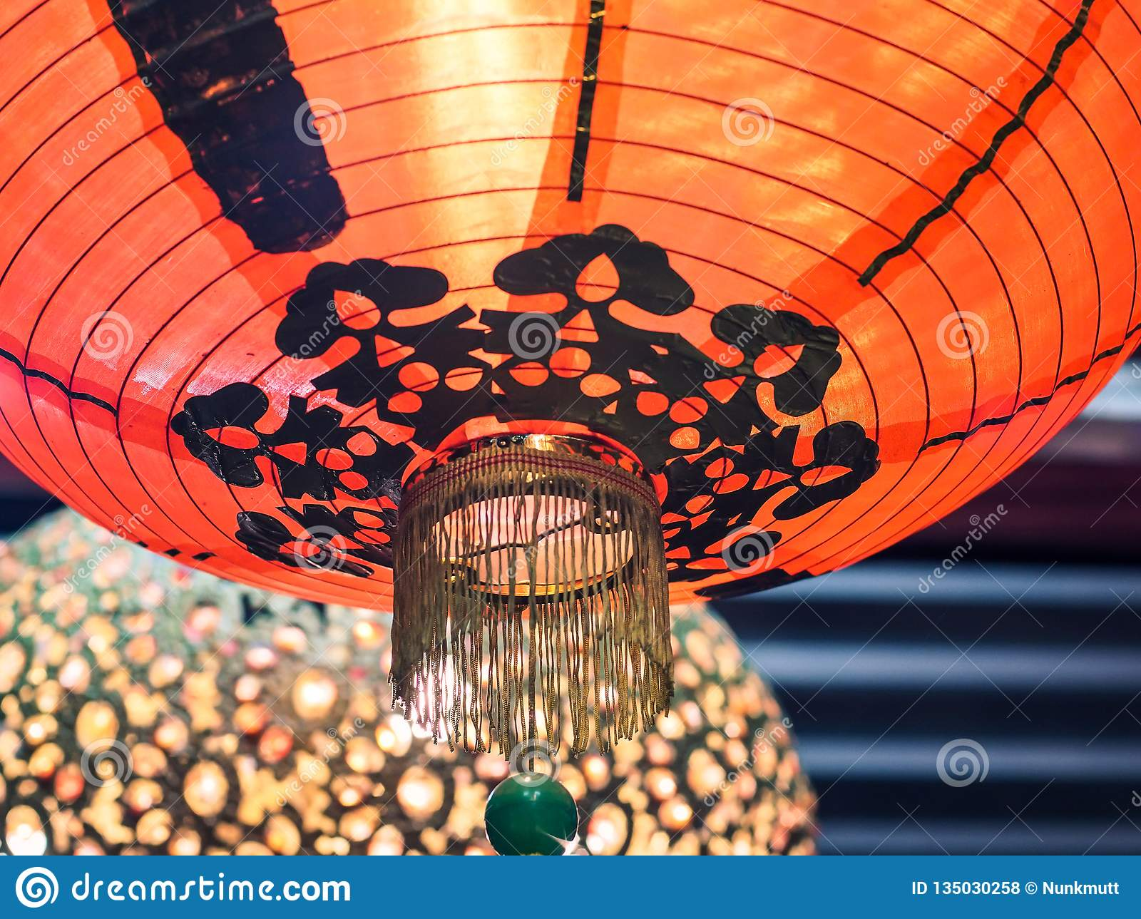 Red Paper Lantern Decoration Chinese New Year For Lucky ...