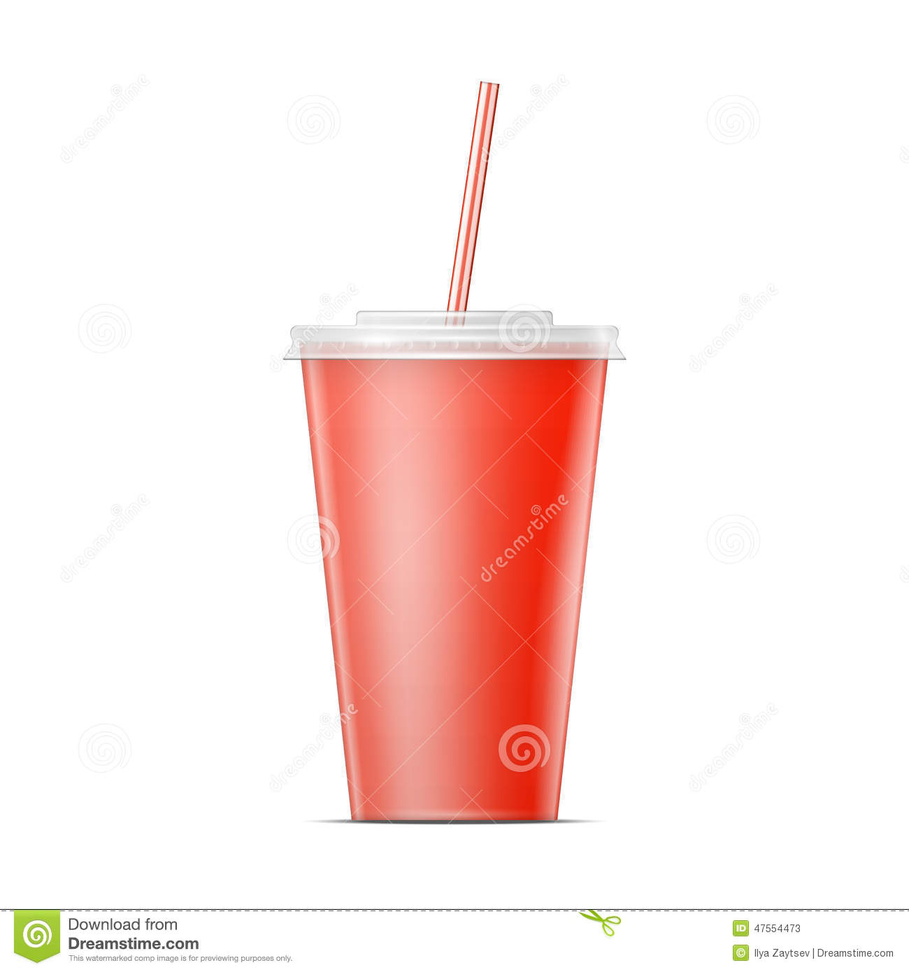 Red paper soda cup template stock vector image 47554473 for Pizza in a mug without baking soda