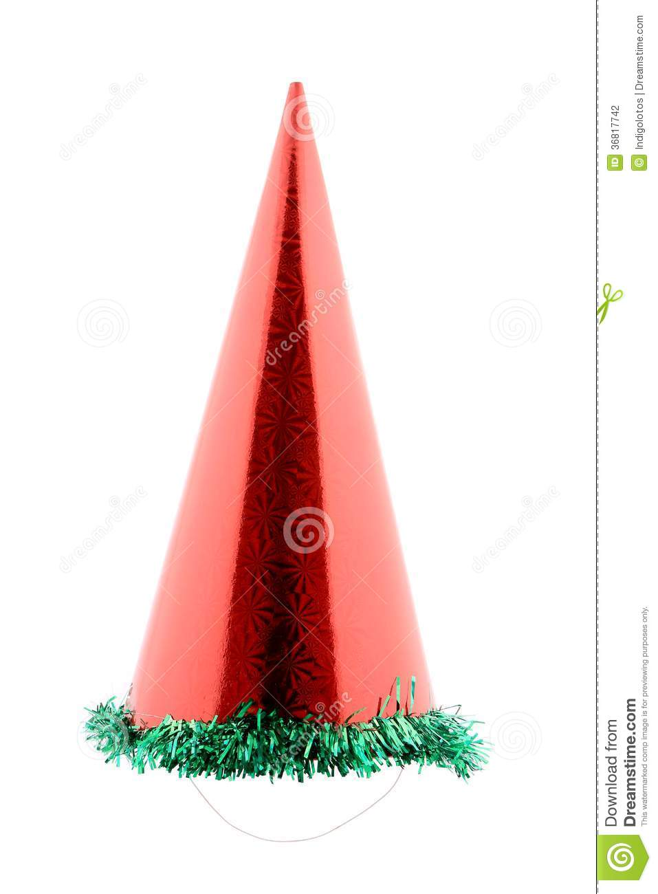 Red party hat cone.