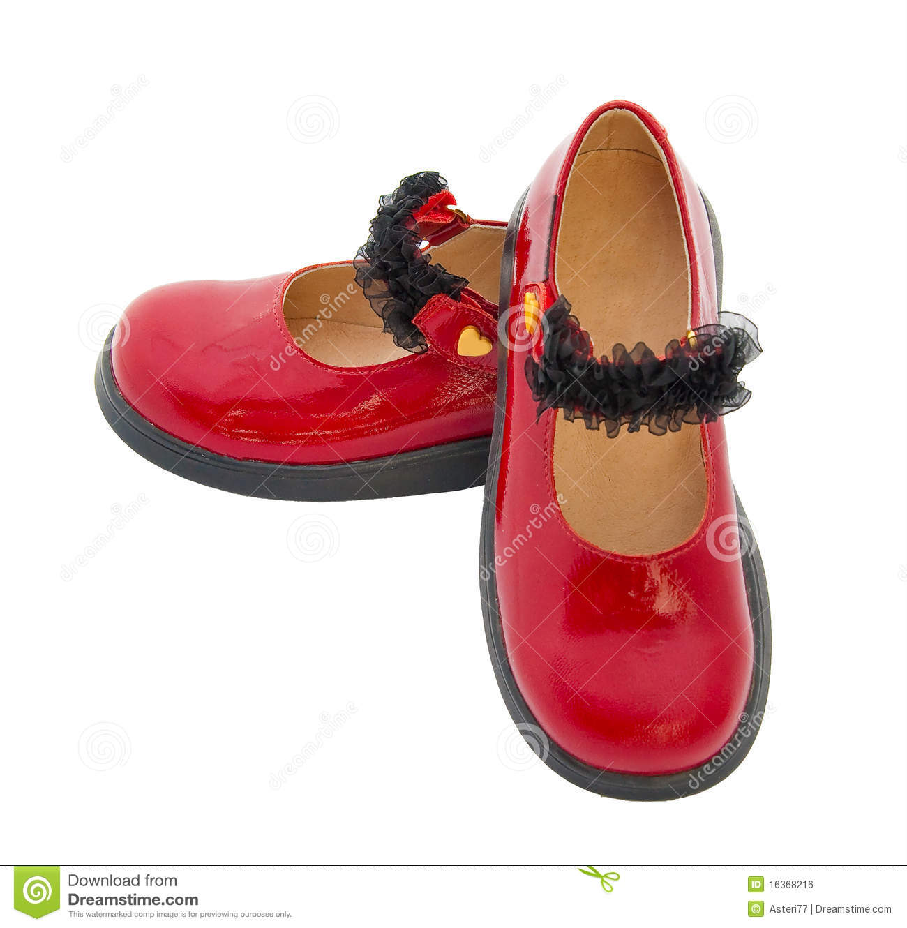 Red Patent Leather Baby Shoes Royalty Free Stock Image