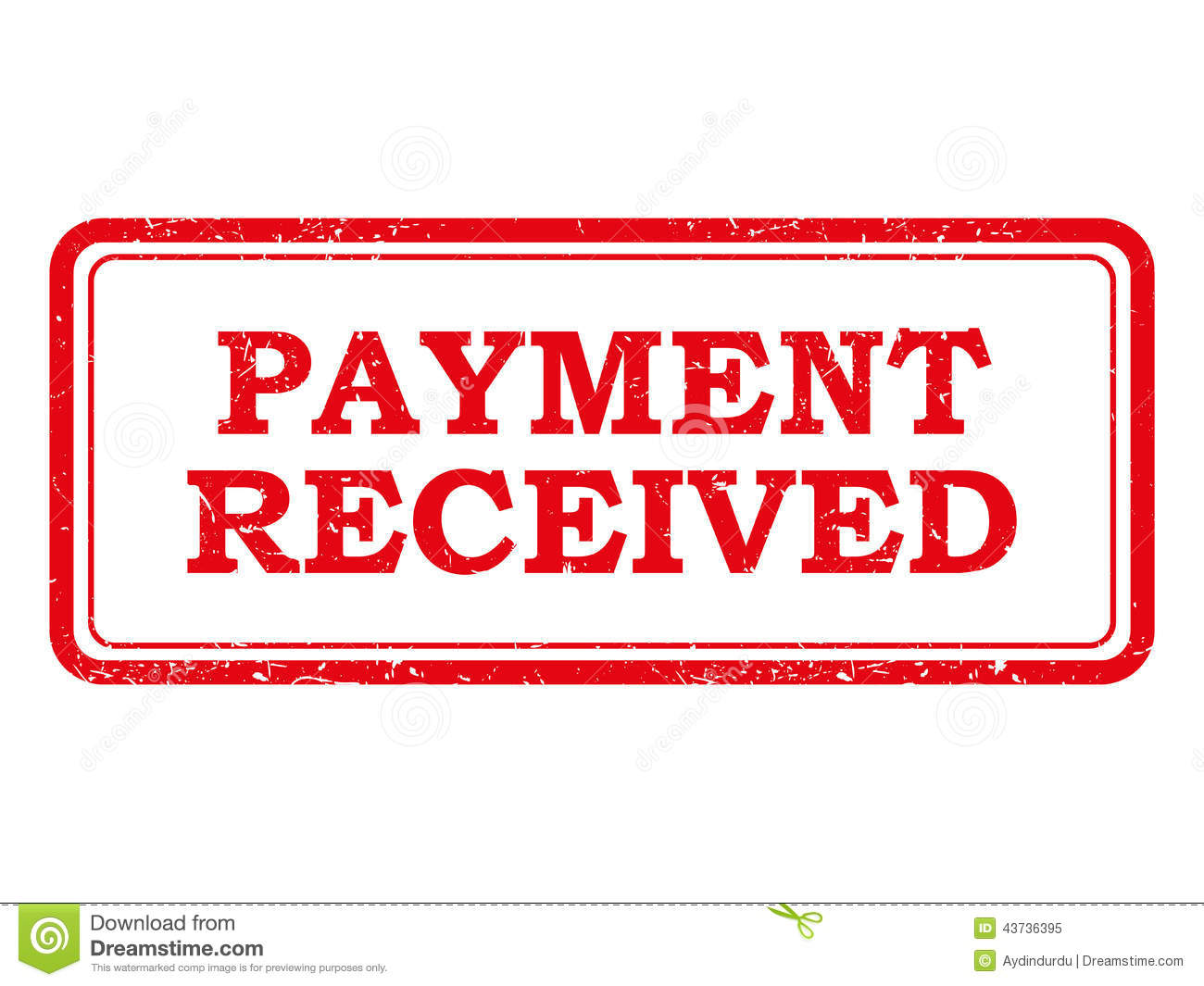 Red Payment Received Stamp Or Sticker Stock Vector