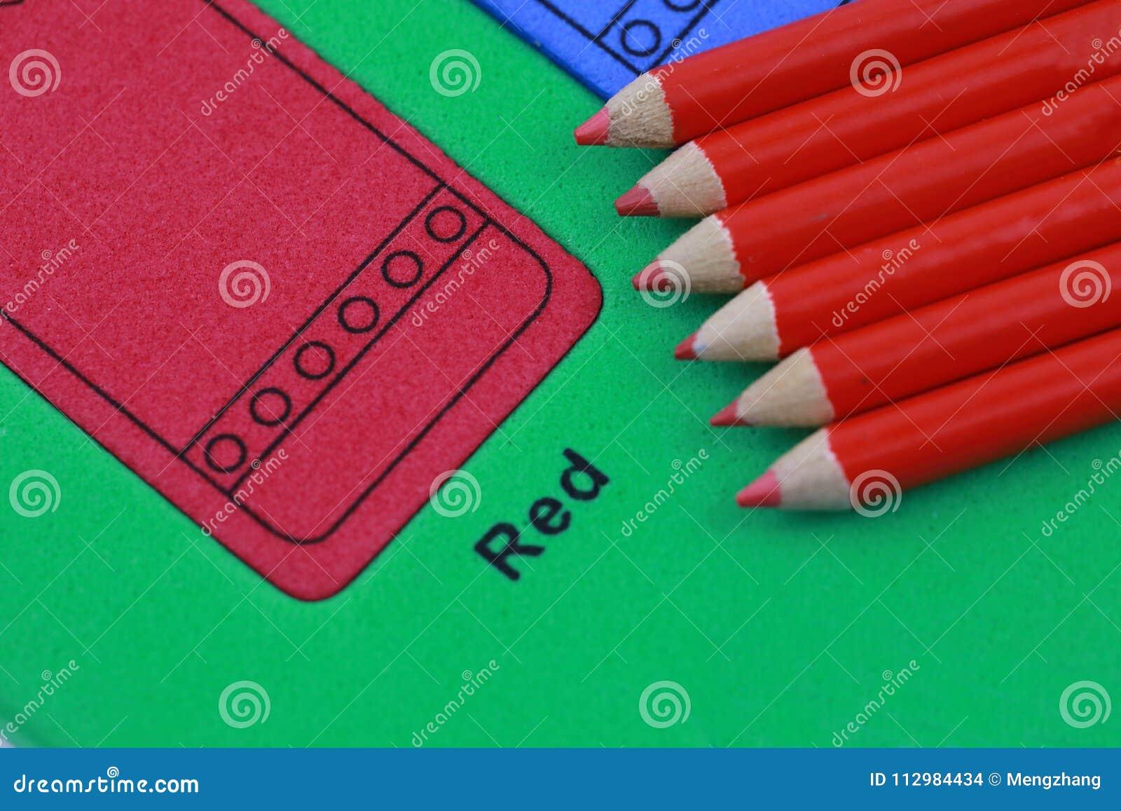 red pencil crayon