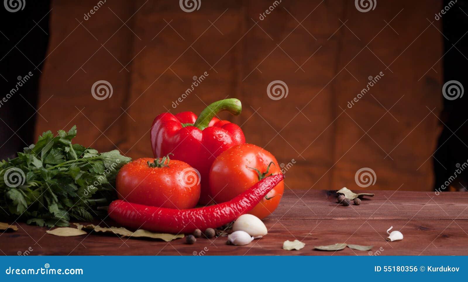 Red Pepper, Herbs An