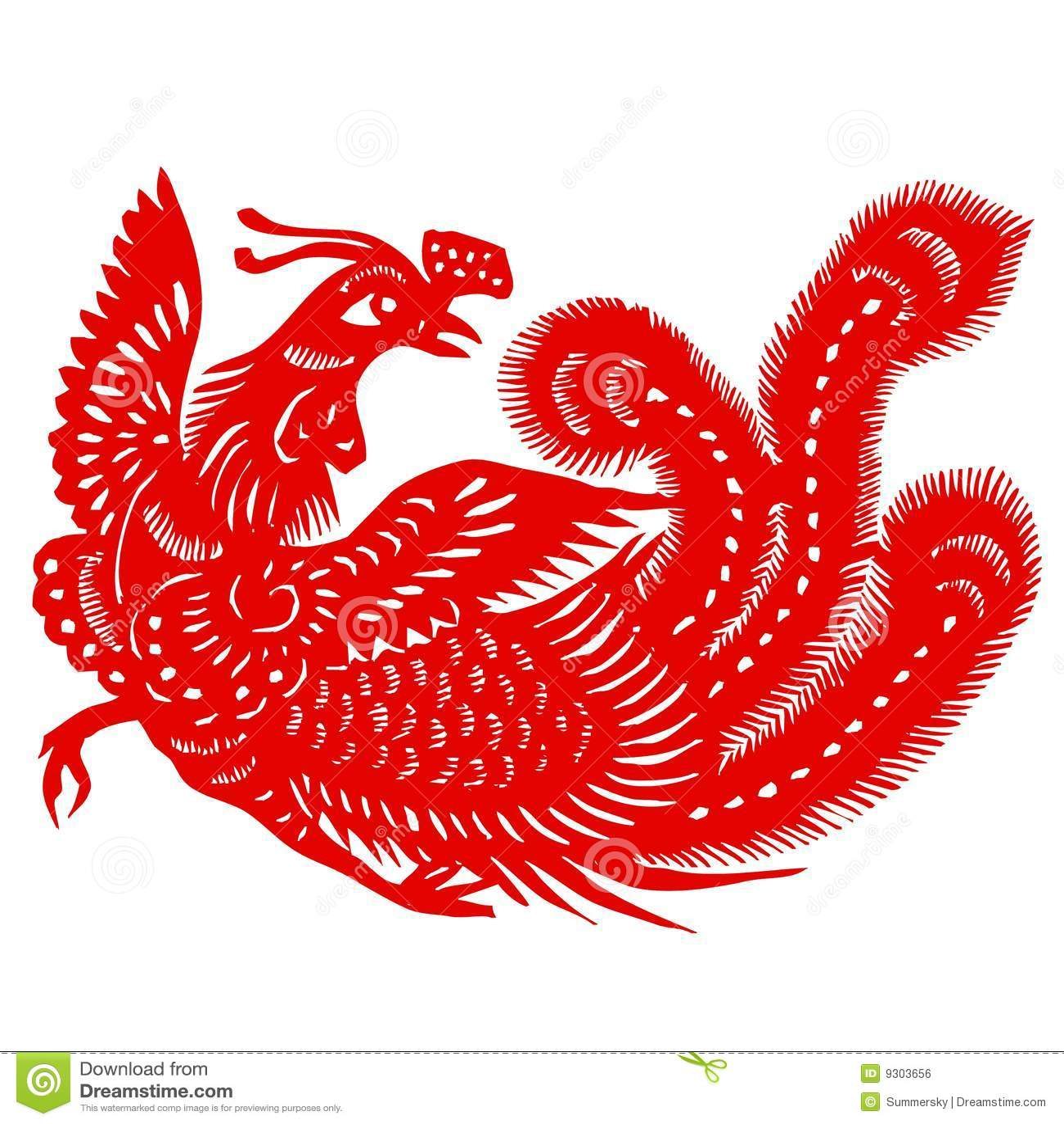 Red Phoenix Royalty Free Stock Image Image 9303656