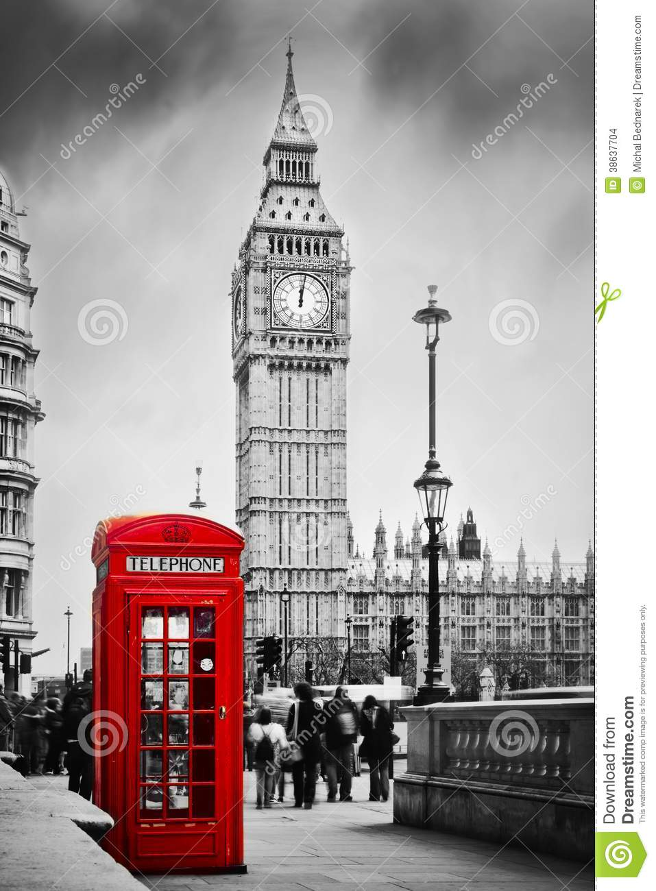 Download Red Phone Booth And Big Ben In London, England UK. Stock Photo - Image of rush, black: 38637704