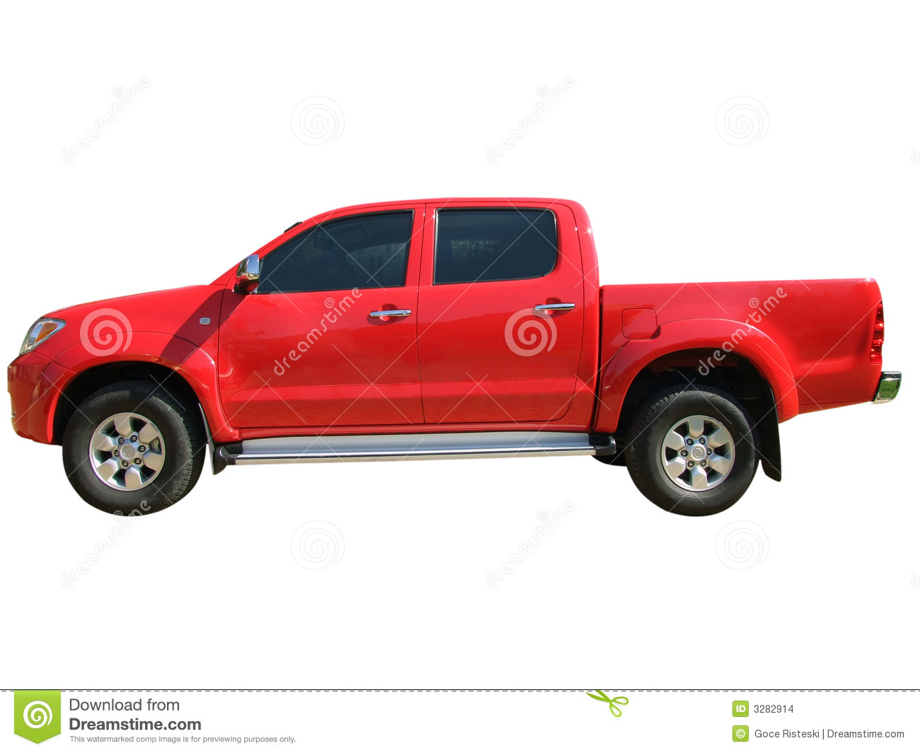 Red Pickup Truck Stock Images - Image: 3282914