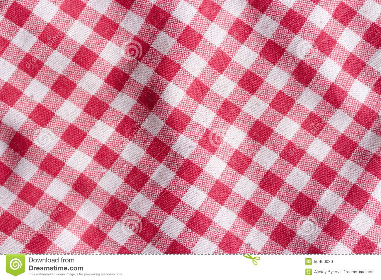 Red Picnic Tablecloth Background. Stock Photo - Image: 56460080