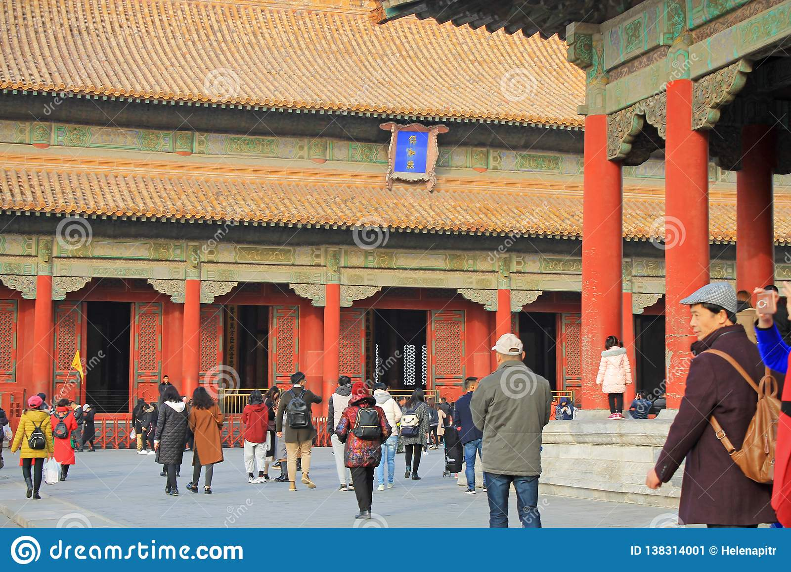 Red pillars of Forbidden city