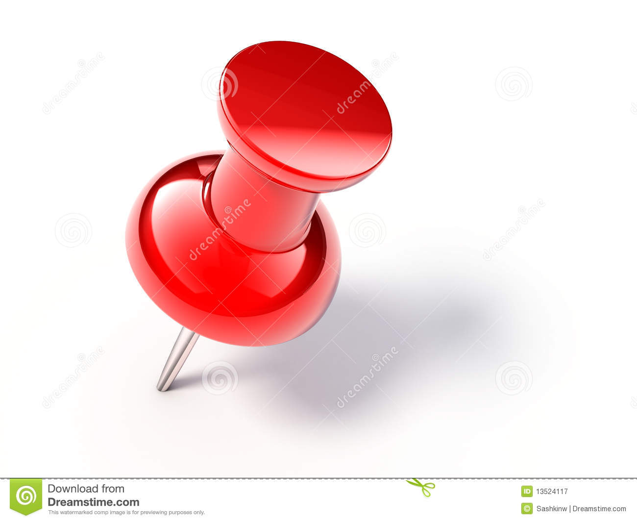 red pin stock illustration illustration of thumb push 13524117