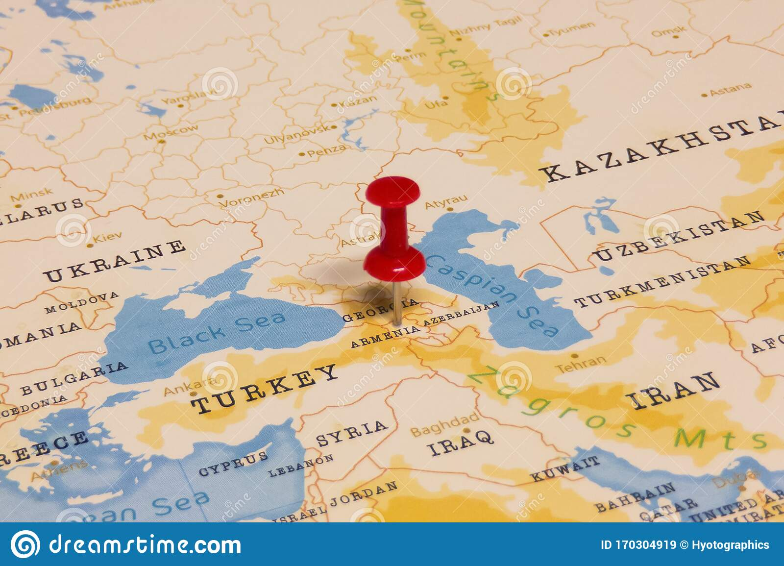 Picture of: A Red Pin On Armenia Of The World Map Stock Image Image Of Border Government 170304919