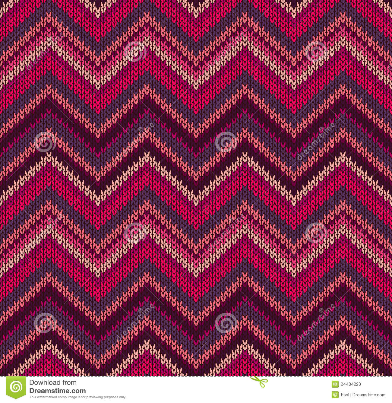 Knitting Patterns For Texture : Red Pink Knit Texture Pattern Stock Photo - Image: 24434220
