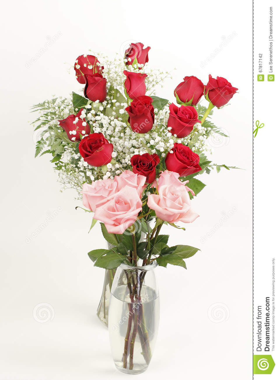 Red And Pink Rose Bouquets Stock Photo - Image: 67817142