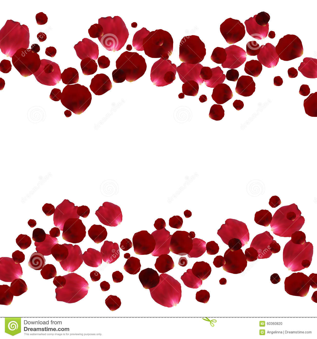 Red and pink rose petals stock vector. Illustration of celebration ...