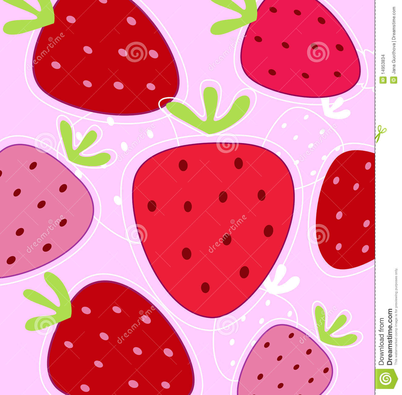 Red And Pink Strawberry Background Stock Images Image