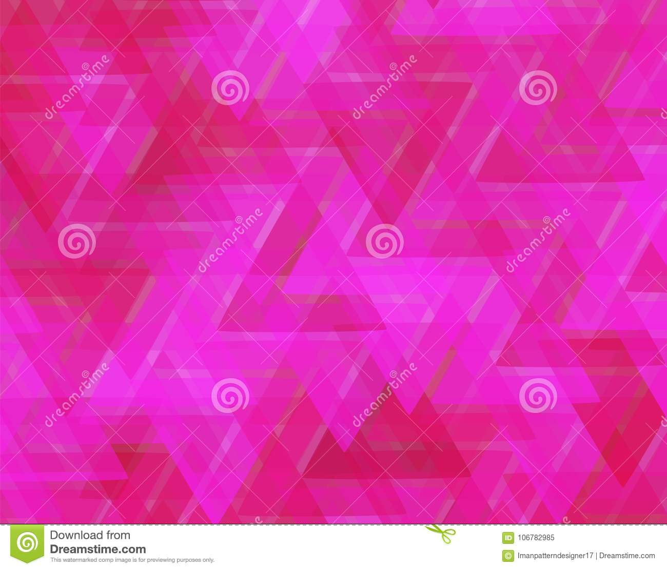red and pink triangles in abstract textured background stock vector