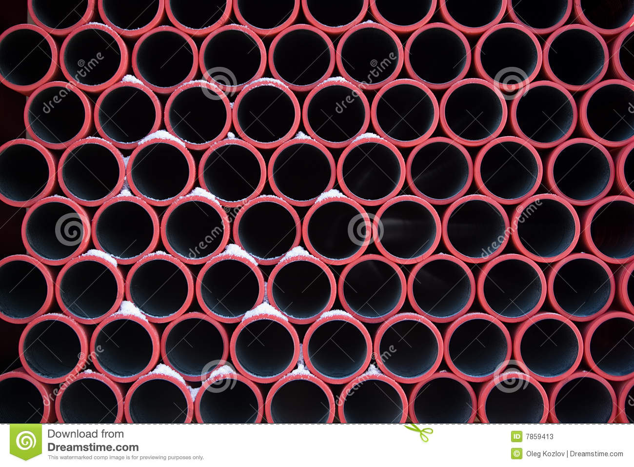 Red pipes pattern