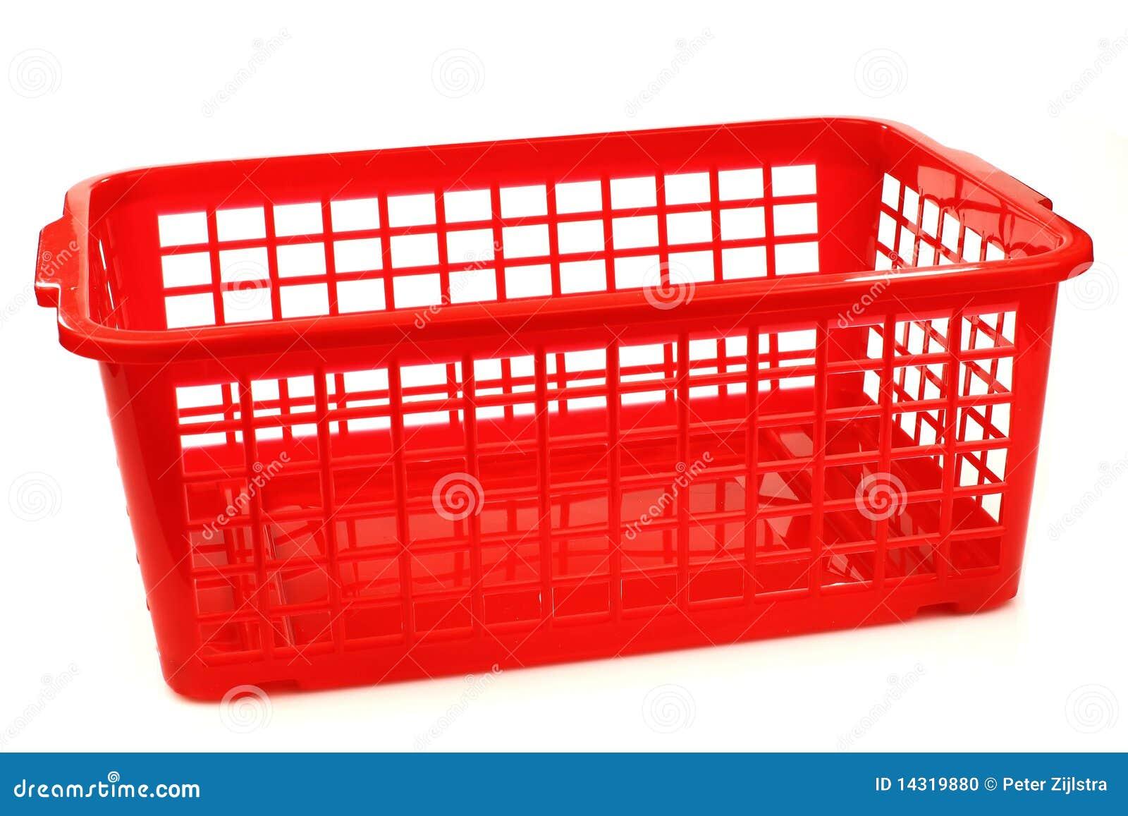 Red Plastic Basket Stock Photo Image Of Object Mini