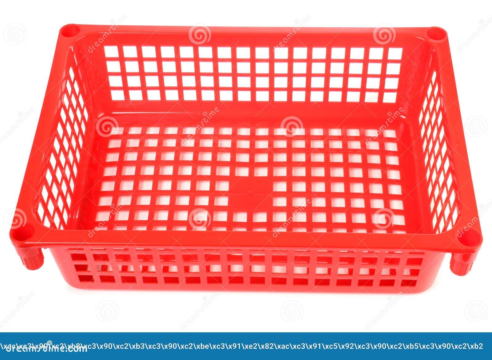Red Plastic Basket Stock Photo Image 39862751