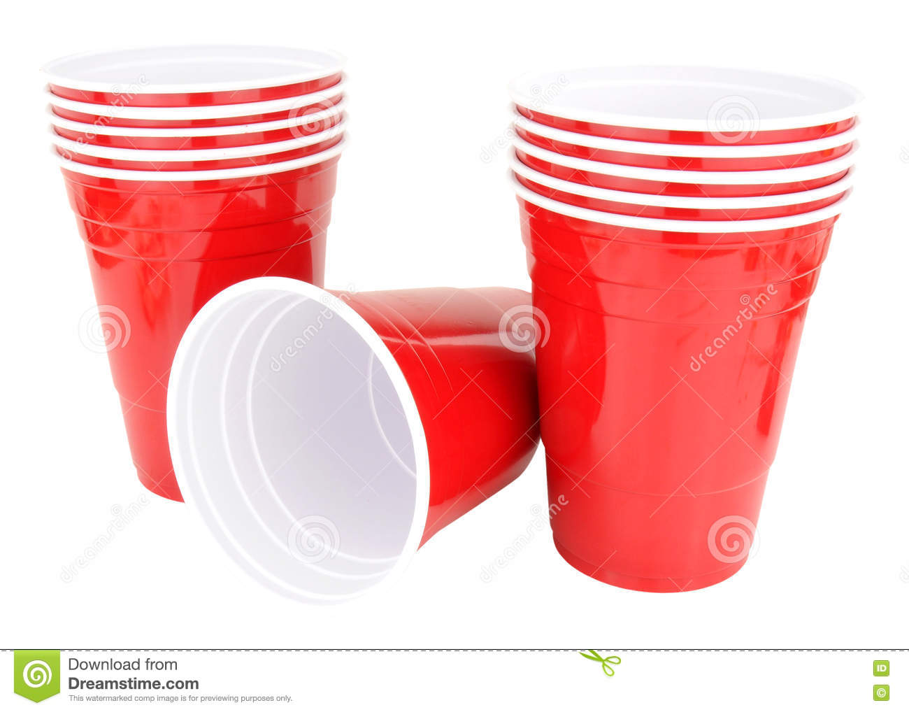 red plastic disposable drinking cups stock photo image of unused