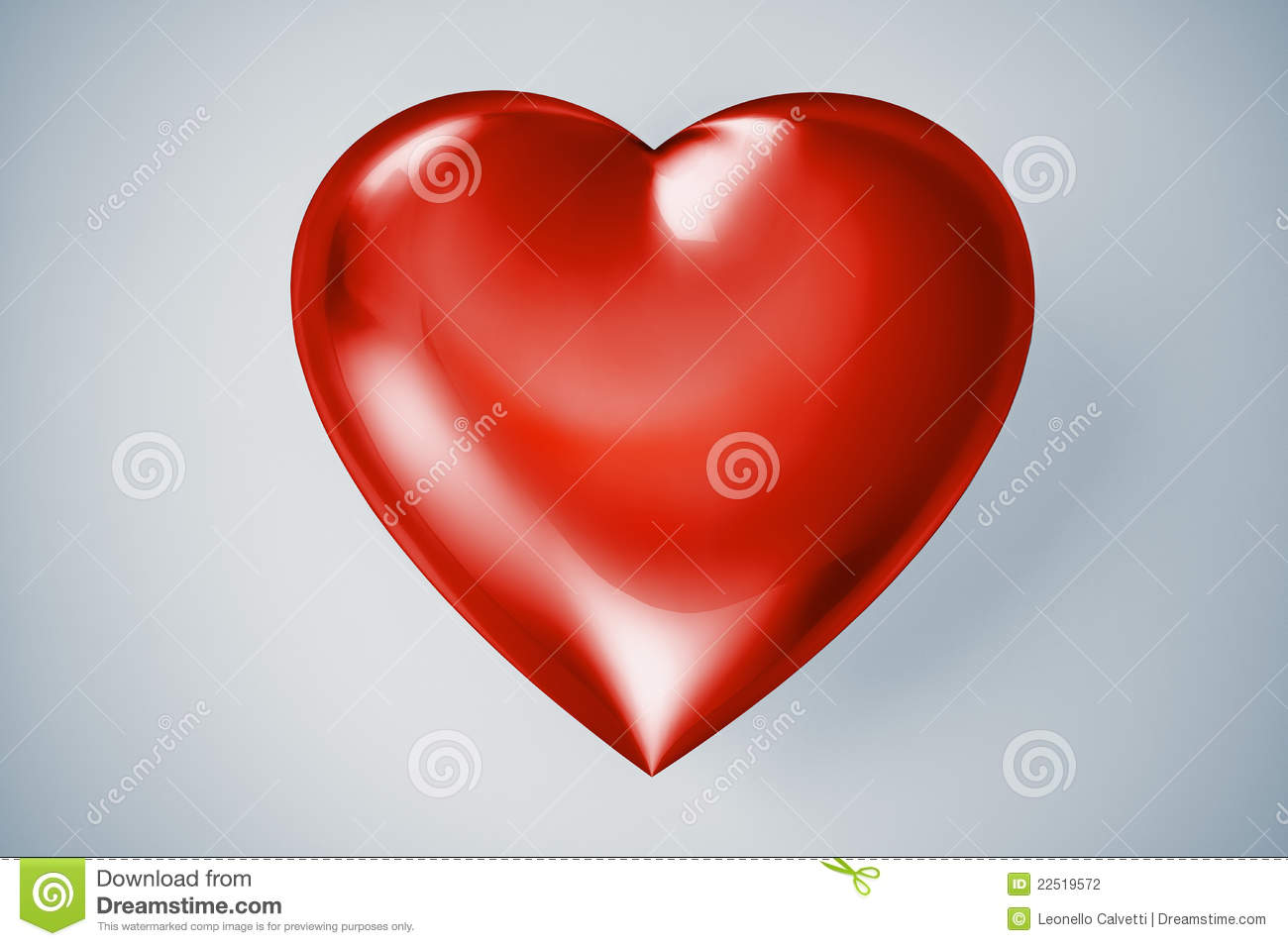 Red Plastic Shining Heart Stock Photography Image 22519572