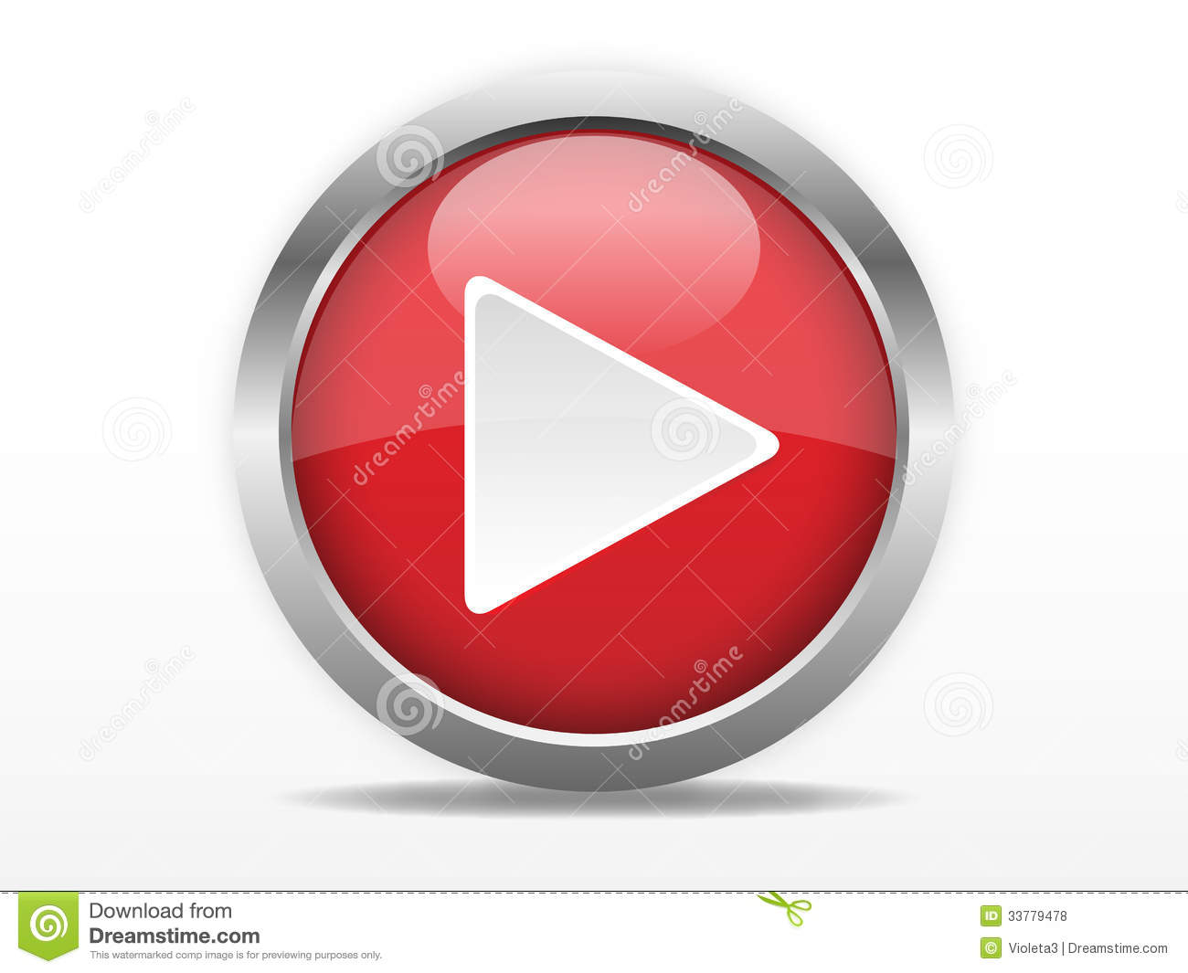 Red Play Button Royalty Free Stock Photos Image 33779478