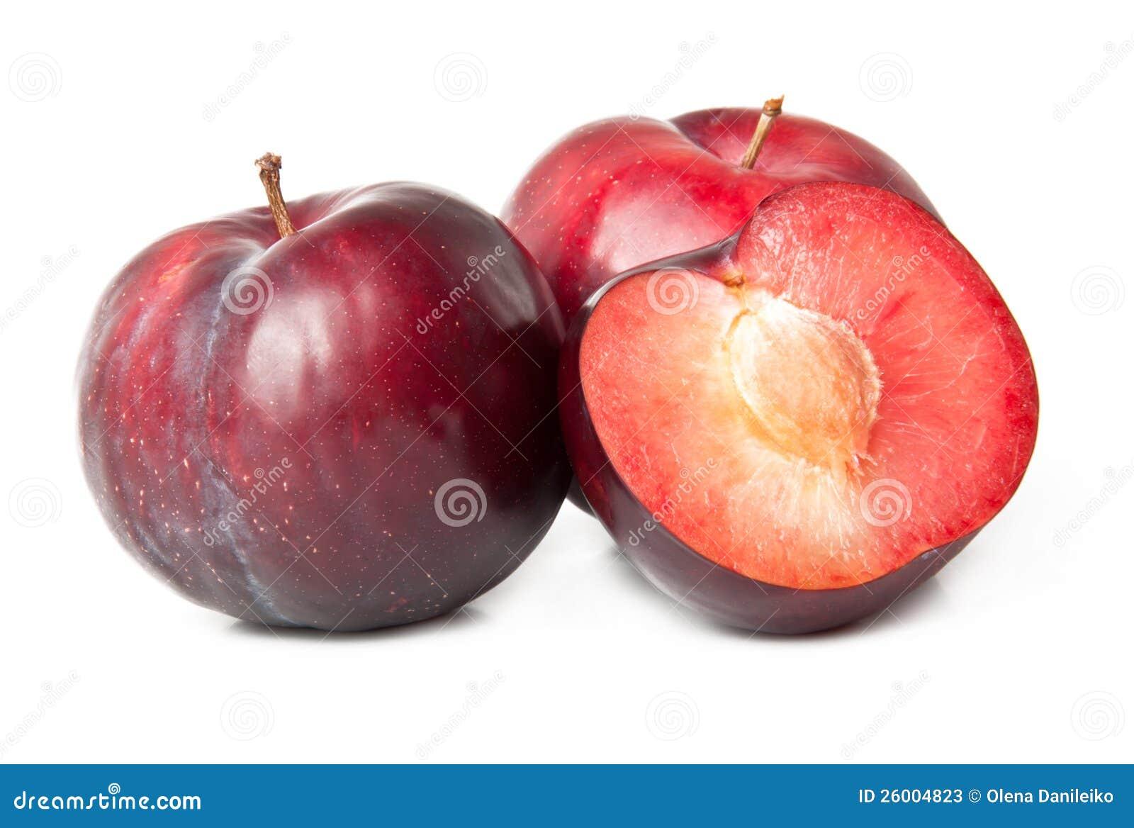 Red plum fruit stock photos image 26004823