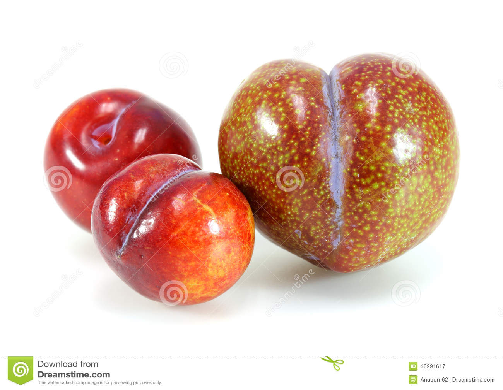 Red plum fruit stock image. Image of food, ingredient