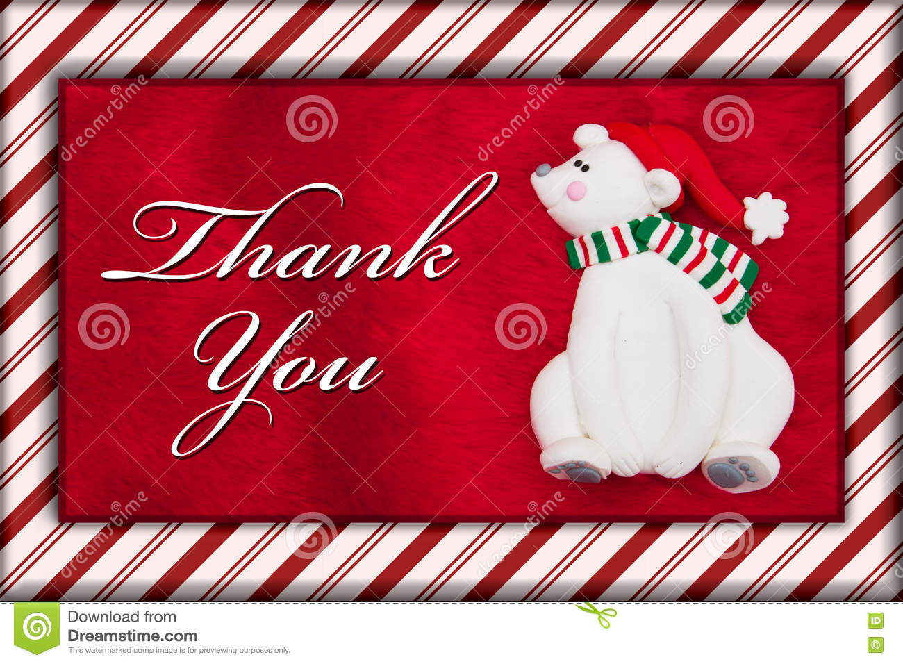 Red plush fur and christmas bear with thank you message stock photo download red plush fur and christmas bear with thank you message stock photo image of m4hsunfo